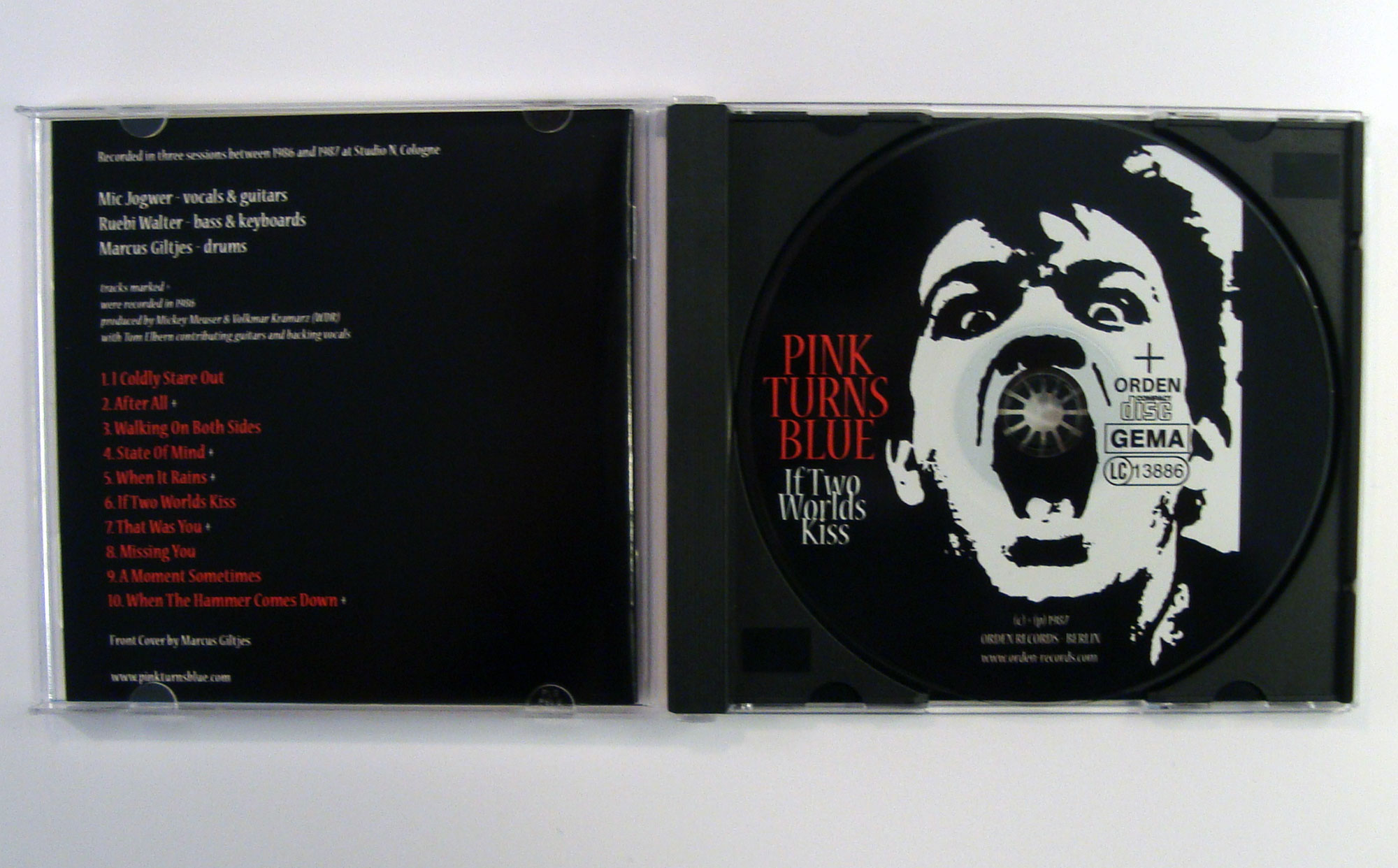 PINK TURNS BLUE - IF TWO WORLDS KISS - CD album - opened
