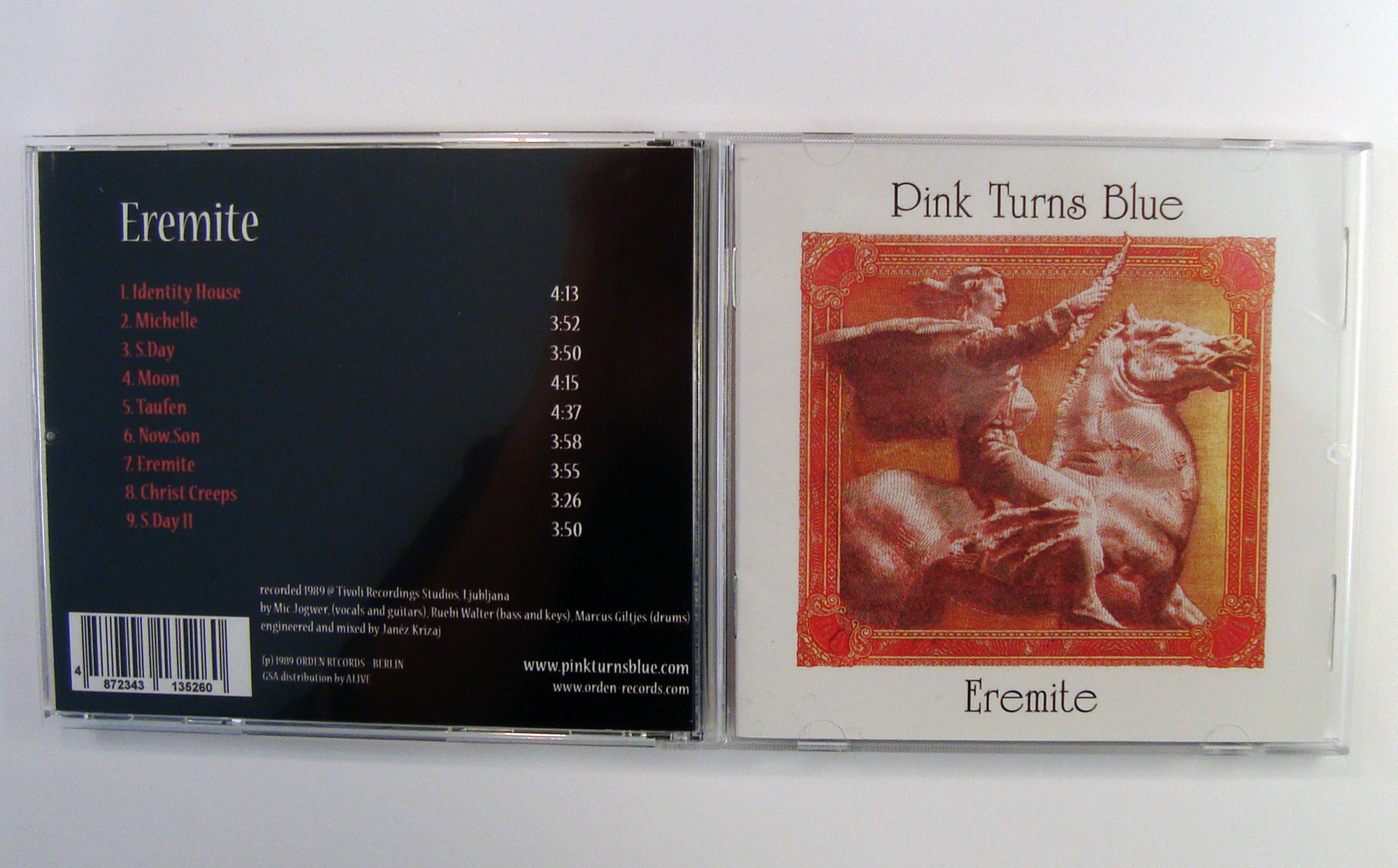 PINK TURNS BLUE - EREMITE - CD album - packshot - back