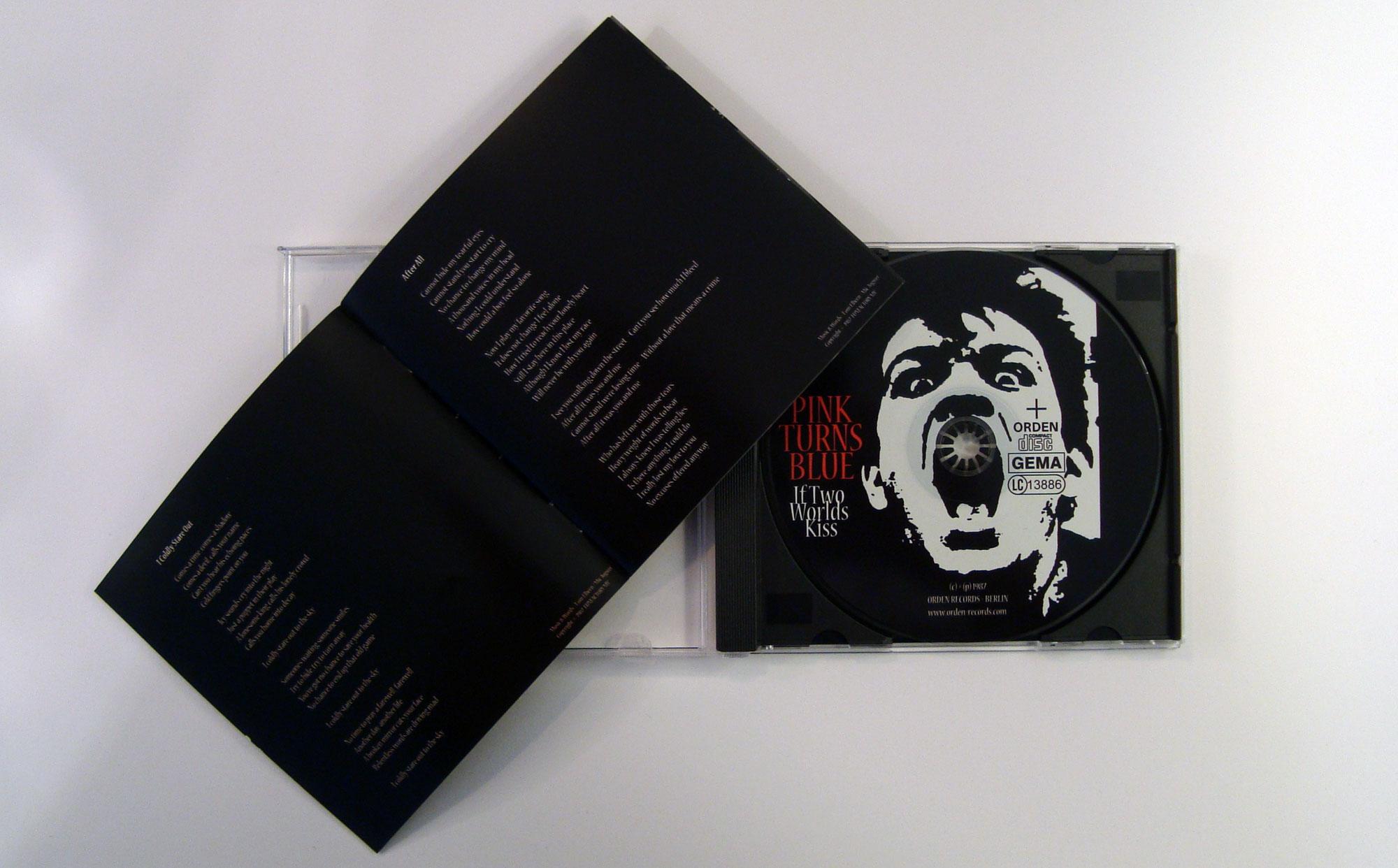 PINK TURNS BLUE - IF TWO WORLDS KISS - CD album - booklet - lyrics